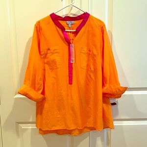Color block blouse - NWT